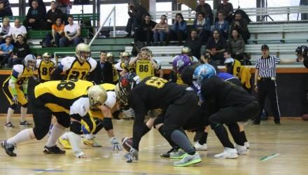 Salgótarjánban is látványos küzdelmeket láthatunk majd - feketében a Rascals csapata (Forrás: Nógrád Sportja)