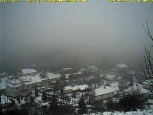 A Rónafalun található webkamera képe dél előtt nem sokkal (Forrás: www.medves-fennsik.hu)