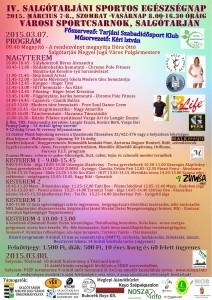 A rendezvény plakátja - kattintásra nagy méretben is elérhető (Forrás: Tarjáni Szabadidősport Klub)