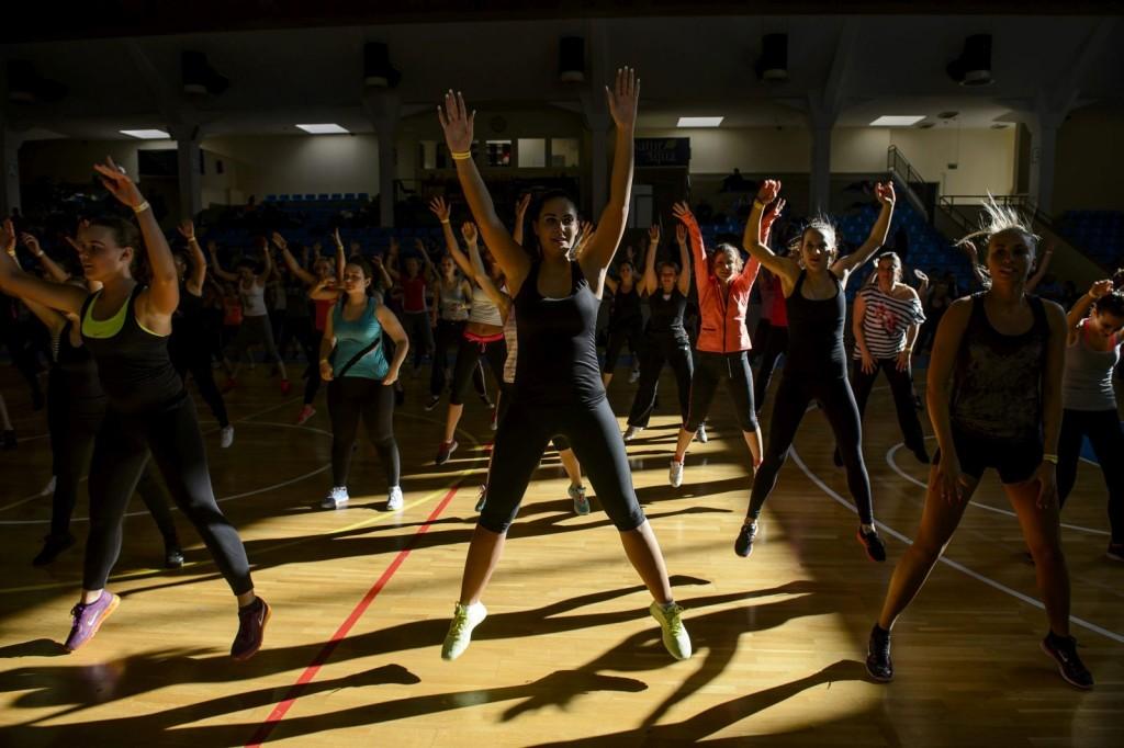 IV. Sportos Egészségnap a salgótarjáni városi sportcsarnokban (MTI Fotó: Komka Péter)