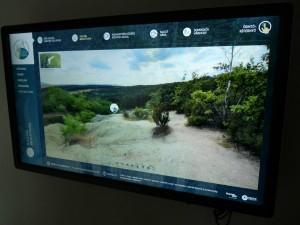 Az interaktív kiállóterem egyik eleme (Forrás: www.geocsodakhaza.hu)