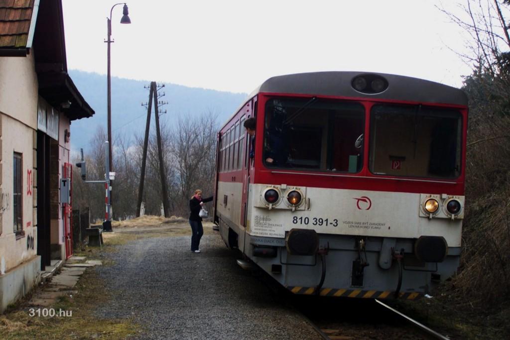 3100.hu Fotó (archív): Szerelvény a Sátorosbányai megállóban a bezárás előtti napokban
