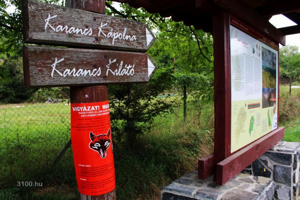 3100.hu Fotó: Az ebzárlatra és legeltetési tilalomra vonatkozó figyelemfelhívó plakát a Beszterce-lakótelepi tó környékén