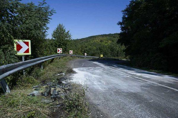 Archív fotón a baleset helyszíne (MTI Fotó: Komka Péter)