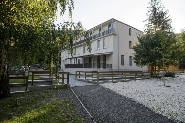A Mátraverebély-Szentkúti Nemzeti Kegyhely új zarándokháza (MTI Fotó: Komka Péter)