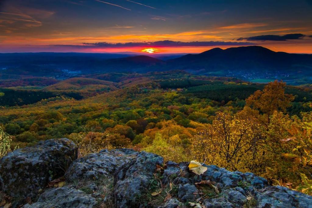 Októberi kilátás a Boszorkány-kőről (Forrás: Medvesi Fotós Maraton | Facebook)