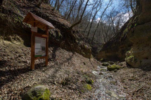 Az egyik legújabb tanösvény-telepítés a geopark területén a Nógrádszakál melletti Páris-patak völgyében valósult meg (Forrás: nyugattolkeletig.ipolyerdo.hu)