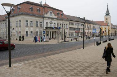 Balassagyarmat 2013-ban megújult belvárosa (MTI Fotó: Komka Péter)