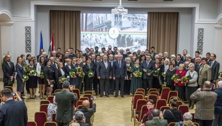 A kitüntetési ünnepség díjazottjainak csoportja (Fotó: Pelsőczy Csaba | Földművelésügyi Minisztérium)