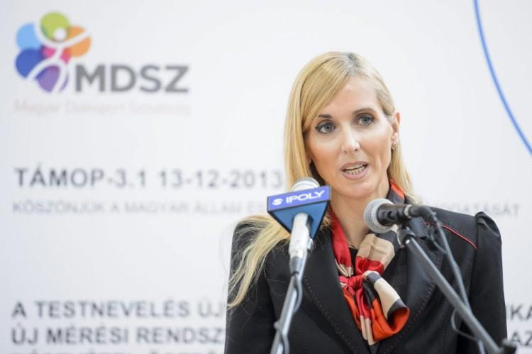 Szabó Tünde, az Emberi Erőforrások Minisztériuma sportért felelős államtitkára (MTI Fotó: Komka Péter)