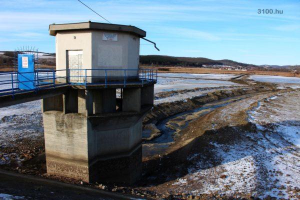 3100.hu Fotó: A víztározó január közepén