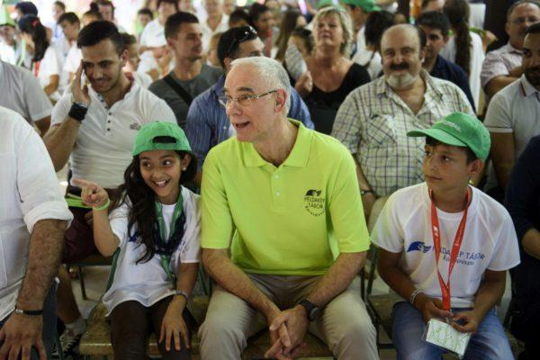 Balog Zoltán, az emberi erőforrások minisztere a ráróspusztai Példakép táborban, a tábor létrehozásának 5. évfordulója alkalmából rendezett ünnepségen (MTI Fotó: Komka Péter)