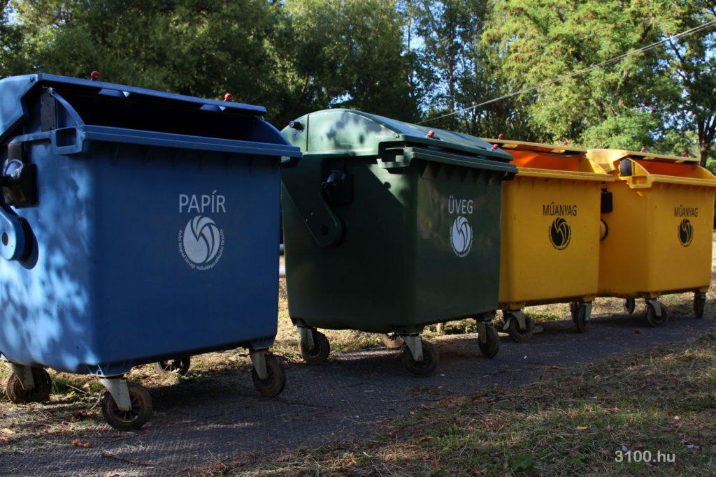 3100.hu Fotó: Szelektív hulladékgyűjtő-konténerek Salgótarjánban, a Beszterce-lakótelepen