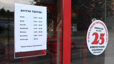 """A Palóc Nagykereskedelmi Kft. salgótarjáni, Acélgyári úti boltja is """"újranyitott"""", a korábbihoz képest rövidebb nyitvatartási idővel"""