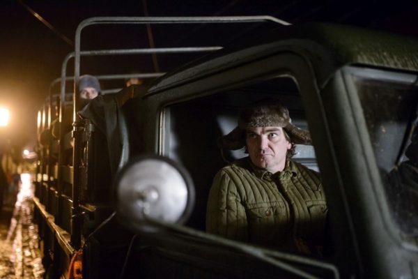 Szakács Tibor a film forgatásának egyik balassagyarmati helyszínén (MTI Fotó: Komka Péter)