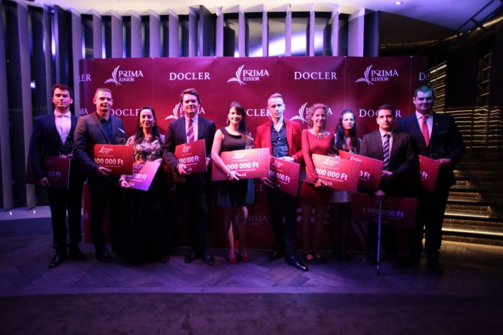 A Junior Prima-díj idei kitüntetettjei (Forrás: Docler Holding Budapest | Facebook)
