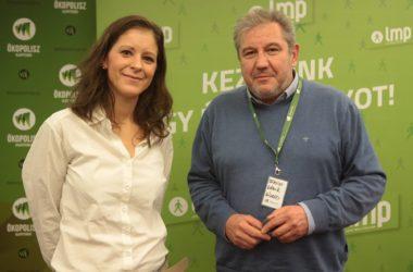 Szél Bernadett, az LMP miniszterelnök-jelöltje és Dömsödi Gábor, Pásztó polgármestere, a párt kelet-nógrádi országgyűlési képviselő-jelöltje (Forrás: Szél Bernadett | Facebook)