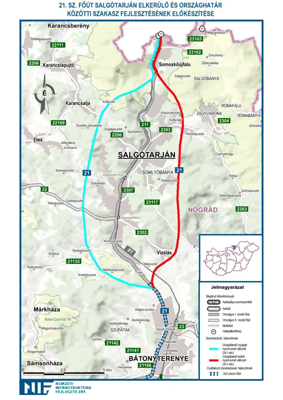 Az átnézeti térkép illusztráció, nyomvonaltervek még nincsenek (Forrás: Nemzeti Infrastruktúra Fejlesztő Zrt.)