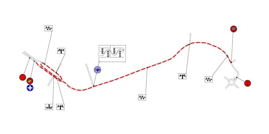 A salgótarjáni, városi gyorsasági átnézeti térképe
