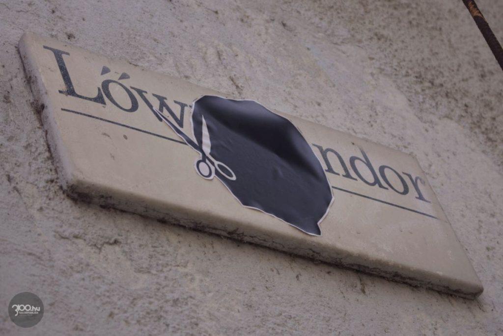 3100.hu Fotó: A Lőwy Sándor út elnevezéssel kapcsolatos nemtetszést valaki már helyben is kinyilvánította