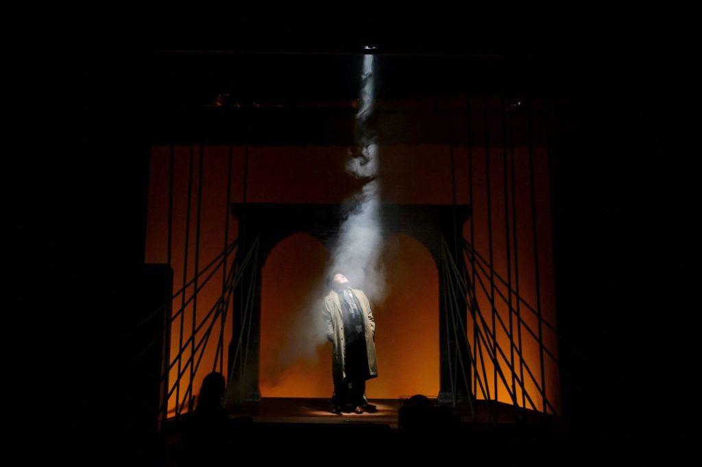 Albert Péter Alfieri szerepében, a darab próbáján (Fotó: MTI/Komka Péter)