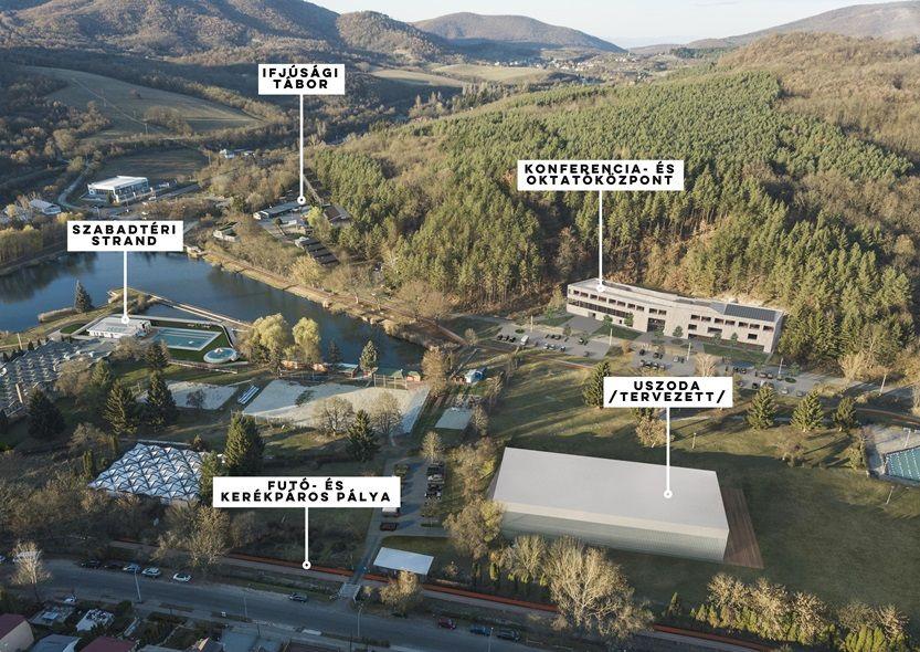Tervezett fejlesztési helyszínek a tó és a strand környékén (Forrás: Salgótarján Megyei Jogú Város Önkormányzata)