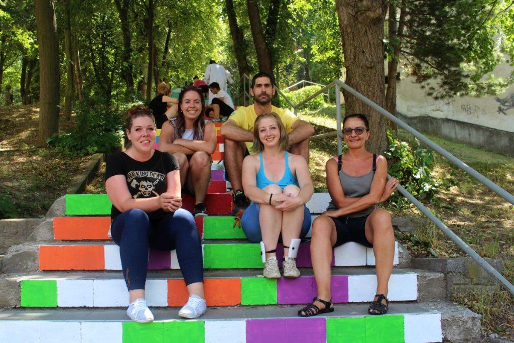 A Sakkozzuk ki! akciócsoport tagjainak egy csoportja (Fotó: Lakatos Kati)