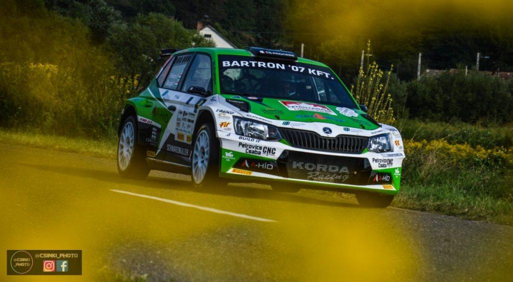 A szécsényi Vincze Ferenc-Bacigál Igor páros a Mecsek Rallye-ig megnyugodhat, előnyük az összetettben több mint jelentős. Az Ózd Rallye-n aratott győzelemmel nagy lépést tettek az idei bajnoki cím felé. (Fotó: Csikó Milán | Instagram)