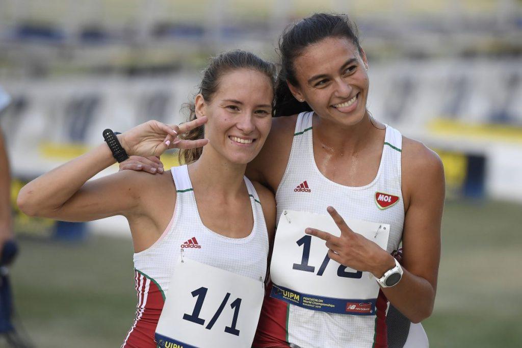 A második helyezett Réti Kamilla és Barta Luca (Fotó: MTI/Kovács Tamás)