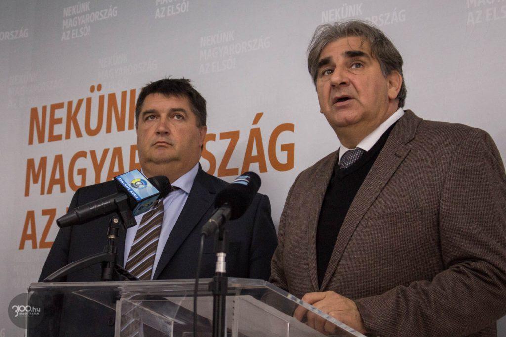 3100.hu Fotó: Becsó Zsolt és Balla Mihály csütörtöki, salgótarjáni sajtótájékoztatójukon