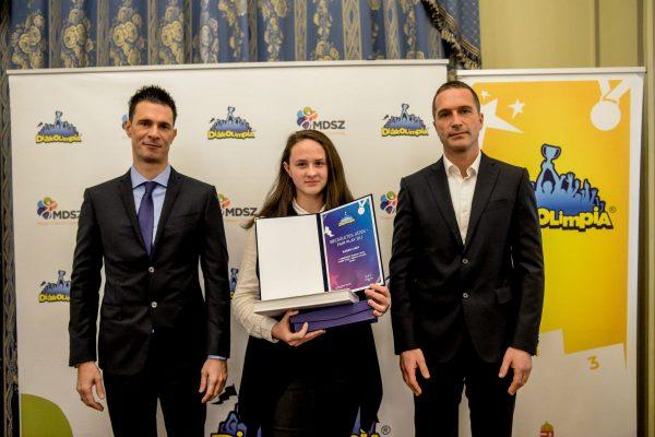 Kasza Luca, a fair play díj tulajdonosa (Fotó: MDSZ)