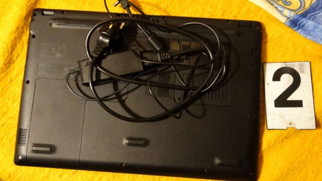 A férfi lakásán lefoglalt egyik számítógép (Fotó: Nógrád Megyei Rendőr-főkapitányság)