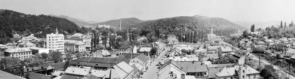 Salgótarján régi városközpontja, középen a Rákóczi/Füleki úttal, 1967-ben (Fotó: Fortepan / Lechner Nonprofit Kft. Dokumentációs Központ)