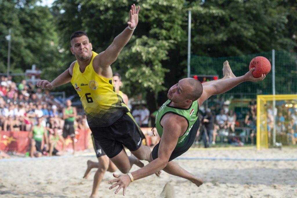 Férfi döntő a Kecskés József Strandarénában (Fotó: MTI/Komka Péter)