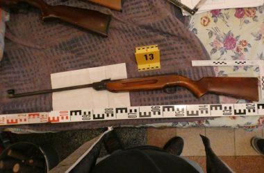 Az egyik lefoglalt fegyver (Fotó: Nógrád Megyei Rendőr-főkapitányság)