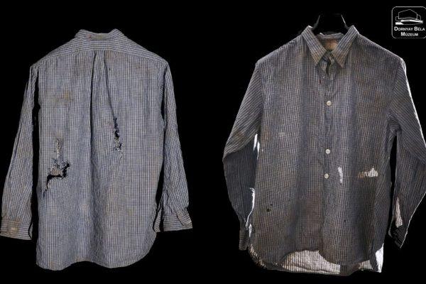 Bátfai József átlőtt inge (Fotó: Dornyay Béla Múzeum)