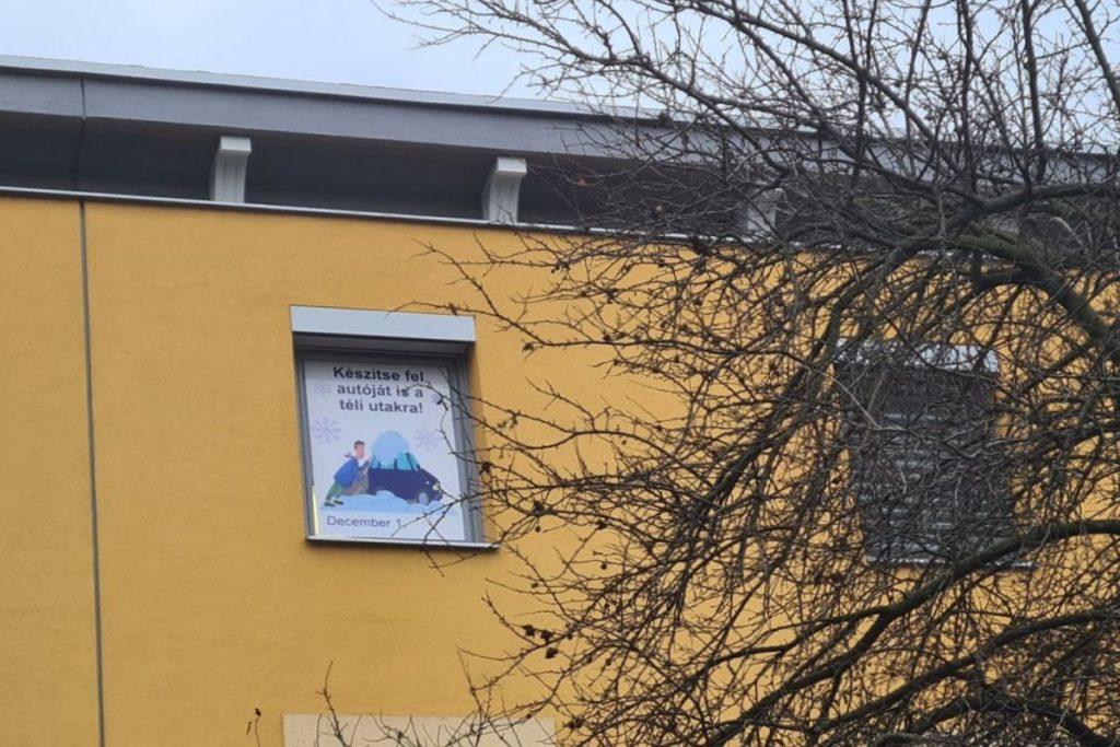 December elseje, a kalendárium első dátuma, közlekedésbiztonságot szolgáló üzenettel (Fotó: Nógrád Megyei Rendőr-főkapitányság)