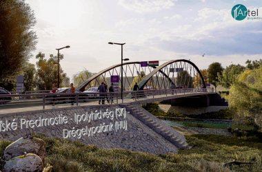 A Drégelypalánkot és Ipolyhídvéget összekötő híd látványterve (Fotó: Felvidék.ma)