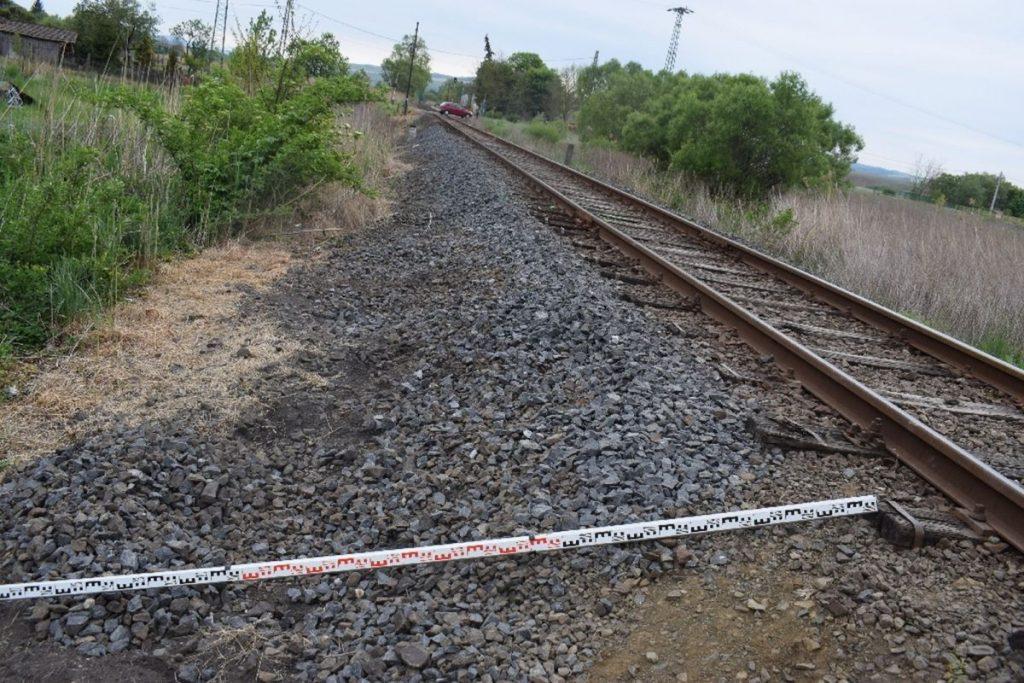 A megbontott vasúti pálya (Fotó: Nógrád Megyei Rendőr-főkapitányság)