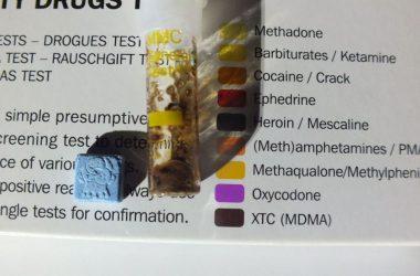A férfinál számos, különféle kábítószert találtak. (Fotó: Nógrád Megyei Rendőr-főkapitányság)
