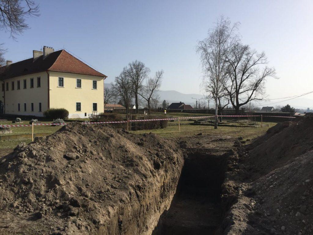 A Romkertben előzetes régészeti feltárás zajlik (Fotó: Farkas Attila | Facebook)