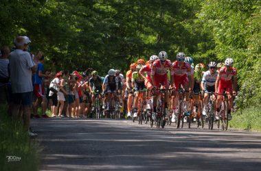 3100.hu Fotó: A Tour de Hongrie mezőnye 2019 júniusában a Salgótarján és Vizslás közötti emelkedőn