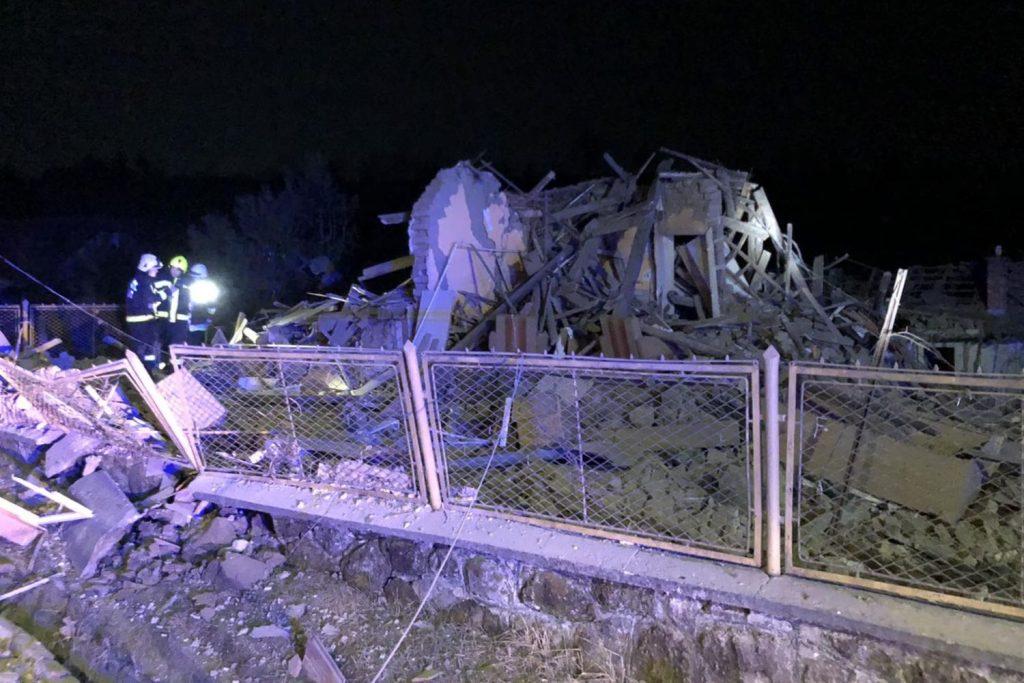 A robbanás helyszíne (Fotó: Nógrád Megyei Katasztrófavédelmi Igazgatóság)