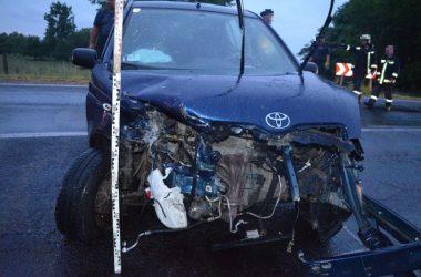 Az utas sérülése mellett az autók is jelentősen megrongálódtak (Fotó: Nógrád Megyei Rendőr-főkapitányság)