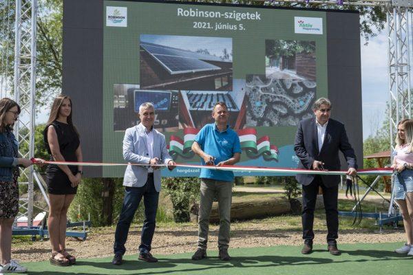 Június 5-én hivatalosan is átadták a Robinson-szigetek új turisztikai szálláshelyeit (Fotó: MTI/Komka Péter)