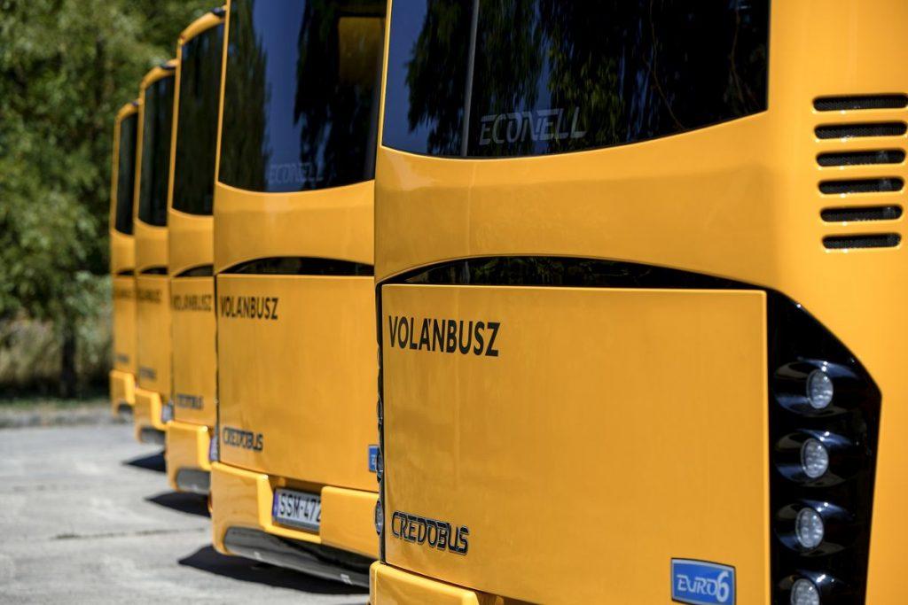 Nyolc darab Credo Econell 12 típusú, szóló autóbusz kezdi meg szolgálatát Nógrád megye útjain (Fotó: Volánbusz Zrt.)