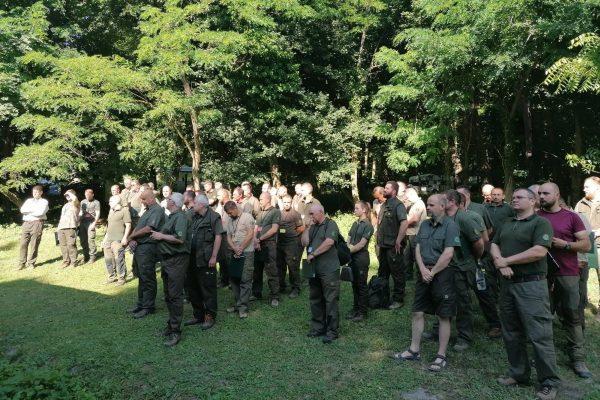 A versenyzők a Diósjenői Erdészet területén adtak számot tudásukról (Fotó: Ipoly Erdő Zrt.)