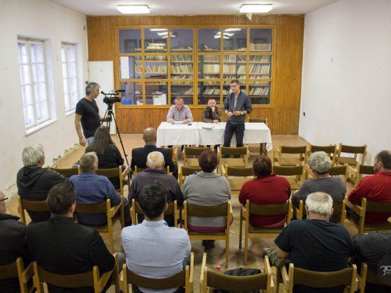 3100.hu archív fotó: Lakossági fórum 2018-ban Somoskő városrészben