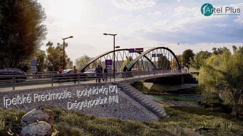 A Drégelypalánk és Ipolyhídvég között megépülő híd látványterve (Forrás: Artel Plus | felvidek.ma)
