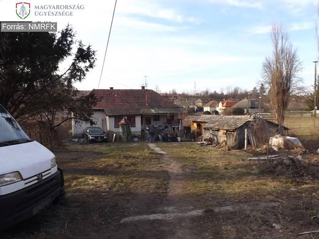 A férfi dorogházi birtoka (Fotó: Nógrád Megyei Főügyészség)